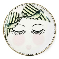 17cm Eyes and Dots Ceramic Plate