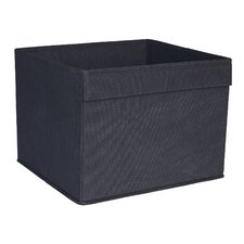 Basic Open Storage Bin with Pocket Handle