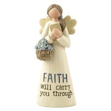 Faith Angel with Flowers and Book Figurine