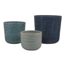 Adriel 3 Piece Rattan Basket Set