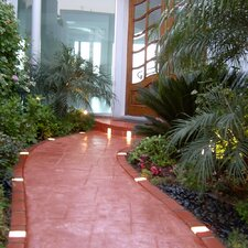 Let's Edge It! Decorative Plastic Brick Edging with 4 Solar Lighted Bricks