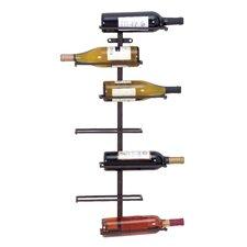 Zaniah 7 Bottle Wall Mounted Wine Rack