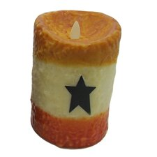 Candy Corn Motion Flameless Candle