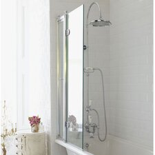 145cm x 85cm Hinged Bath Screen