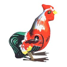 Collectible Decorative Tin Toy Hopping Rooster
