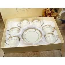 Espresso Cup and Saucer (Set of 6)