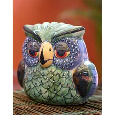 Painted Ceramic Bird Figurine
