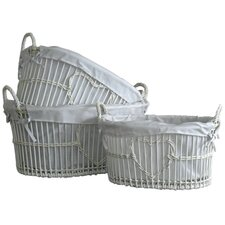 Heart Wicker Laundry Set