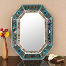 Handcrafted Infinite Reverse Painted Glass Wall Mirror