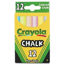 12 Piece Assorted Colored Chalk Box