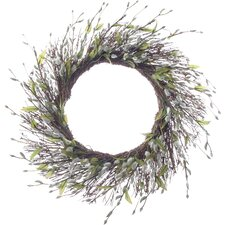 """26"""" Pussy Willow Wreath"""