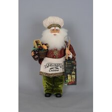 Christmas Tuscan Kitchen Santa Figurine
