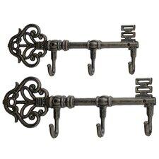 2 Piece Iron Wall Hook Set