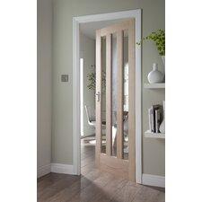 Aston 3 Panel White Oak Veneer Glazed Internal Door