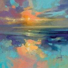 Scott Naismith - Cerulean Cyan Study Canvas Wall Art