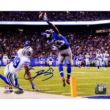 NFL Odell Beckham Jrs Signed One-Handed Touchdown Catch Photographic Print