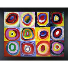 Farbstudie Quadrate by Wassily Kandinsky Framed Painting