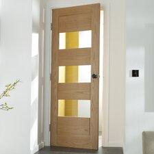 Oregon 3 Panel White Oak Veneer Glazed Internal Door