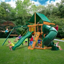 Mountainer Swing Set with Green Vinyl Canopy