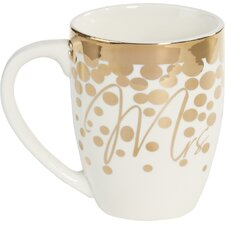 Cieslak Mrs O' Joe Ceramic 18 oz. Cup with Gold Accents
