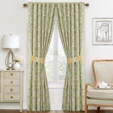 Paisley Verveine Paisley Semi-Sheer Rod Pocket Curtain Panels (Set of 2)