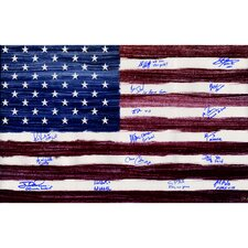1980 USA Hockey Team American Flag Photo Graphic Art