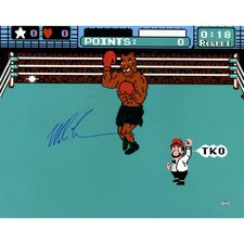 Mike Tyson Signed Punch Out Photo Graphic Art