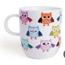 6-tlg. Becher Owl