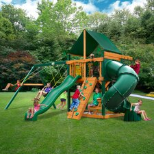 Mountaineer Swing Set with Canvas Green Sunbrella Canopy