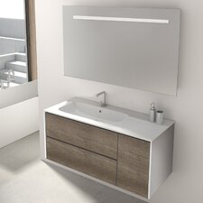 Mosman 100cm Wall Mounted Vanity Unit With Mirror and Storage Cabinet