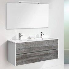 120 cm Wandmontierter Waschtisch Daugava für Doppelbecken mit Spiegel