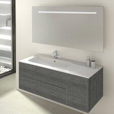 120 cm Wandmontierter Waschtisch Maiford mit Spiegel und Aufbewahrungsschrank