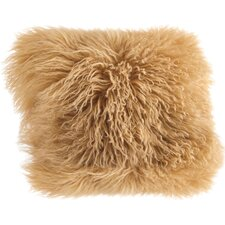 quick view becky mongolian lamb fur wool throw pillow - Gold Decorative Pillows