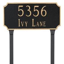 Princeton 2-Line Lawn Address Sign