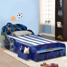 batman kids twin platform bed with storage
