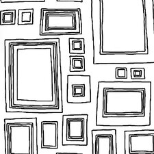 "Label Frames 33' x 20.5"" Geometric Wallpaper Roll"