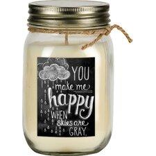 Happy Vanilla Jar Candle