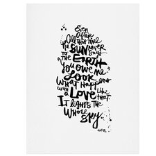 'Even After All 1' by Kal Barteski Textual Art
