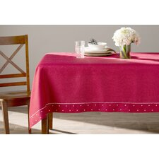 Polka Dot Embroidered Easy Care Tablecloth