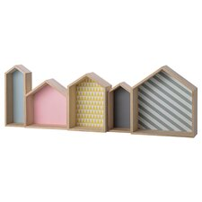 House Shaped Wood Display Box