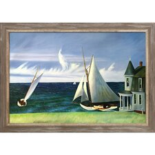 'Lee Shore 1941' by Edward Hopper Painting Print on Canvas