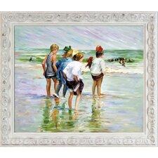 'Summer Day Brighton Beach' by Edward Hopper Painting Print on Canvas