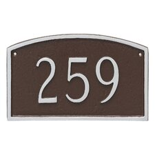 Prestige 1-Line Wall Address Plaque