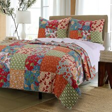 Terra Blossom Reversible Quilt Set