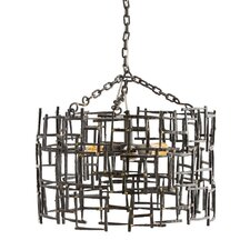 Ecko 3-Light Shaded Chandelier