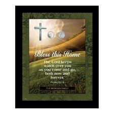 Personalized Bless This Home with Vatican Pope Coin Framed Textual Art
