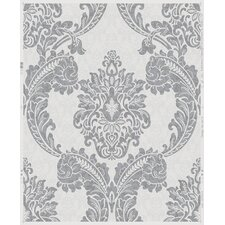 "Douglas Regent 33' x 20"" Damask Wallpaper Roll"