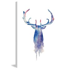 'Moose Paint' Painting Print on Wrapped Canvas