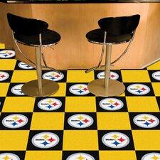 """NFL Team 18"""" x 18"""" Carpet Tile (Set of 20)"""