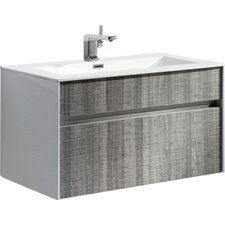 "Brockman 24"" Single Modern Bathroom Vanity Set"
